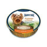 Happy Dog (Хеппи Дог) Schale NaturLine HuhnEnte - Консервированный корм паштет для собак с курицей и уткой