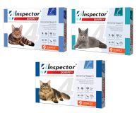 INSPECTOR QUADRO Инспектор Квадро К капли на холку от 14 внутренних и внешних паразитов для кошек