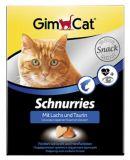 GimCat (Джимкэт) Schnurries Витаминные сердечки с таурином и лососем