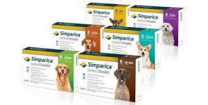 Simparica (Симпарика) Таблетки от блох и клещей для собак