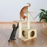 Домик для кошки с когтеточками и мягкими лежанками